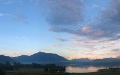 Zugersee im Morgenrot